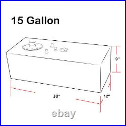 15 Gallon Top-feed Coated Fuel Cell Gas Tank+cap+level Sender+nylon Line Kit