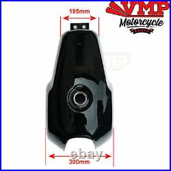Project British Style Cafe Racer Motorcycle Fuel Petrol Tank Black